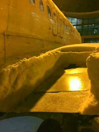 """飞机绕圈机场关闭 请注意这场""""认真的""""雪!"""