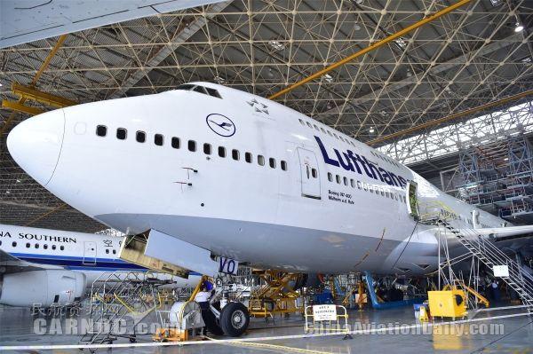 Ameco北京基地完成汉莎航空5架波音747大修