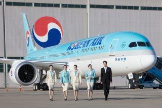 大韩航空首架波音787-9梦想客机于27日亮相