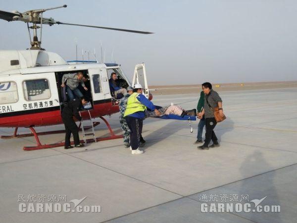东方通航B-7477直升机戈壁救援失联地质队员