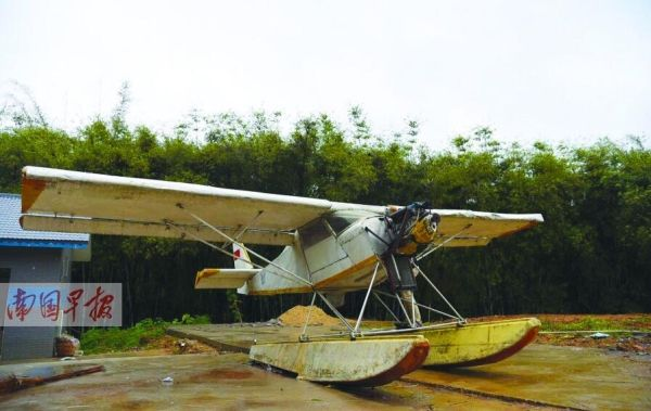 梧州市梧县一农民自制飞机 用时三年花费十万元