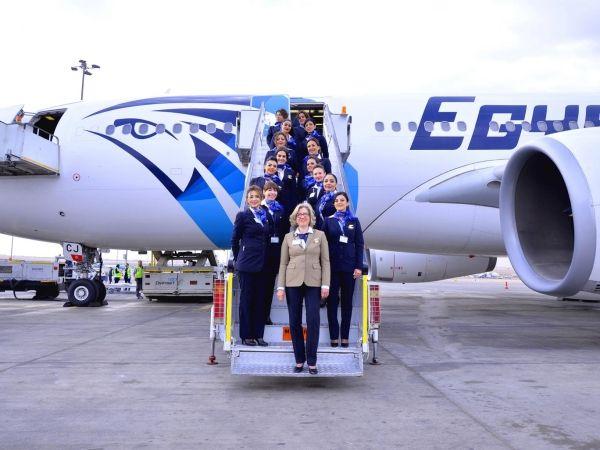 埃及航空首个全女性机组航班升空