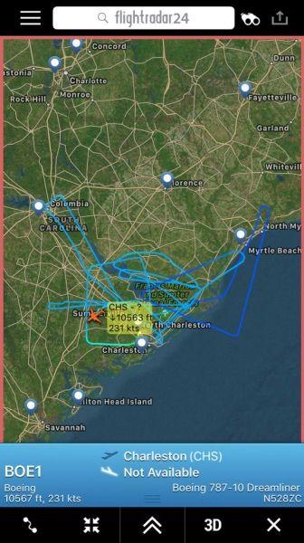 787-10首飞飞行轨迹
