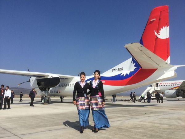中国新舟60飞机交付尼泊尔途中。(中国航空工业供图)