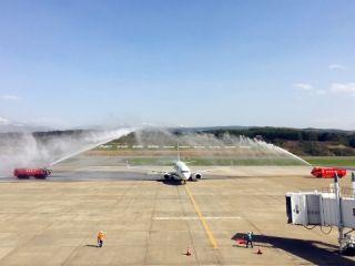 奥凯航空天津直飞青森定期航班正式启航