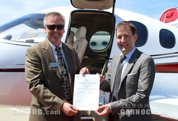 """西锐""""愿景""""喷气机获颁欧洲航空局适航证书"""