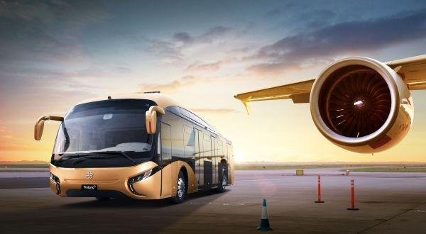 白云机场首台充电摆渡车正式交付试用
