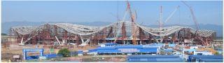 桂林机场扩建工程航站楼主体钢结构提前合龙