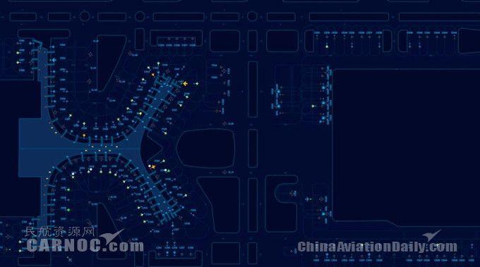 """这是昆明长水国际机场运行管理控制系统""""长水常准"""""""