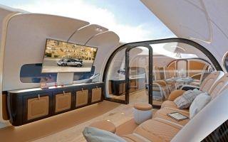 空客造价近亿美金公务机亮相 乘客可享天空美景