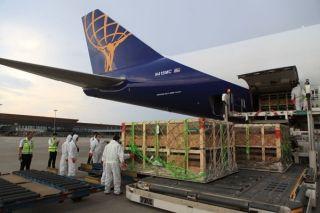 阿特拉斯航空空运种猪 长水机场成功保障