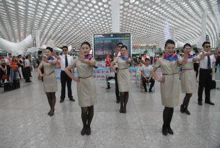 民航深圳地区开展安全生产宣传咨询日活动