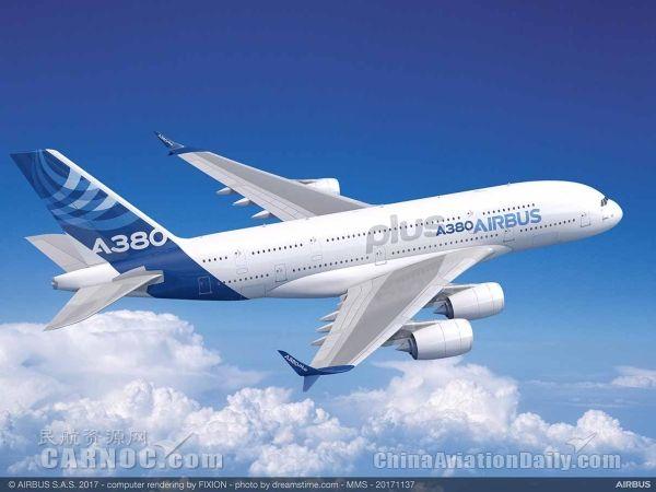 空中客车在2017巴黎航展展示A380plus计划