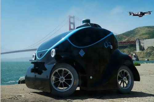 迪拜警察新装备:配备了无人机的自动驾驶巡逻车