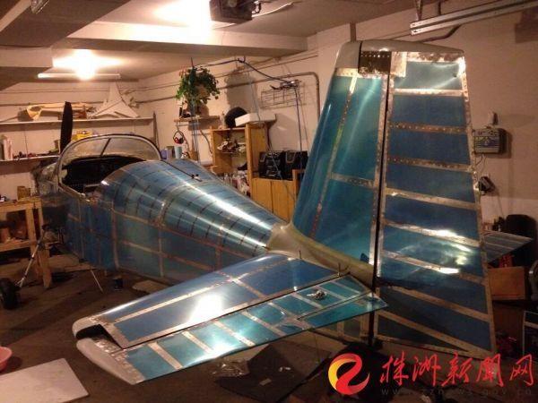 家中的车库,成为李湘宏制造飞机的场地(受访者