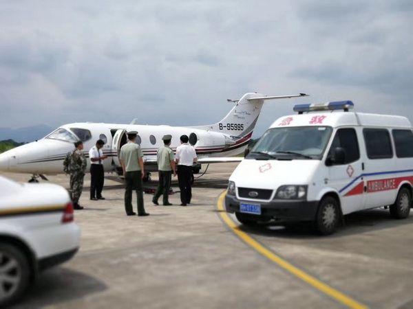 黄山机场顺利保障急救包机飞行