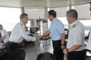 原民航总局局长杨元元到中国民航飞行学院调研