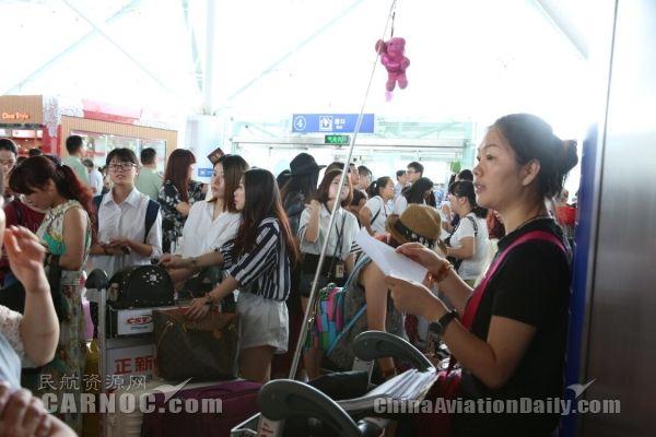宁波机场迎来暑运高峰。宁波机场供图