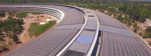 Apple Park航拍七月版出炉 访客中心已成形