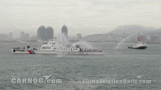 三亚机场受邀参与三亚市海上事故演练保障