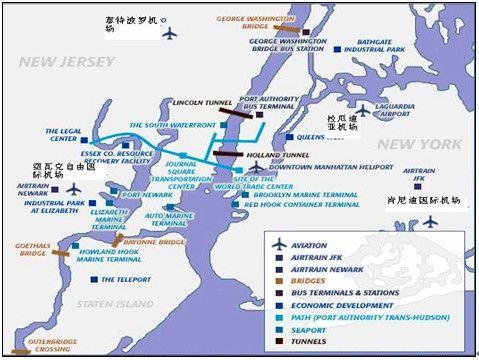 纽约大湾区主要机场分布图