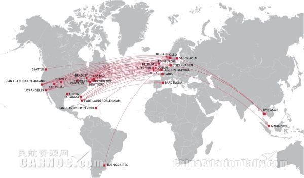 挪威航空跨大西洋航线