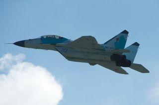 18日,第十三届莫斯科国际航空航天博览会上的飞行表演。 (摄影:游侠Ranger)
