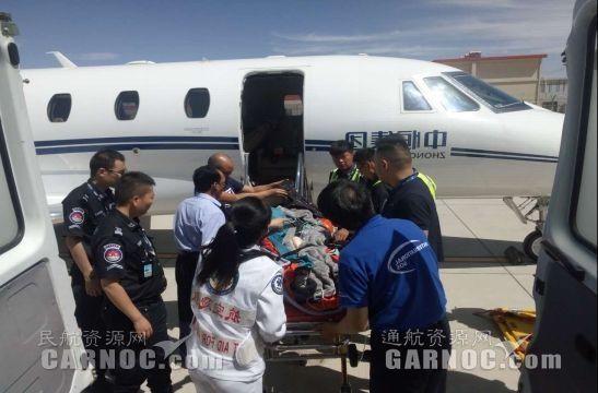 格尔木机场保障中飞通航B-3266包机急救飞行