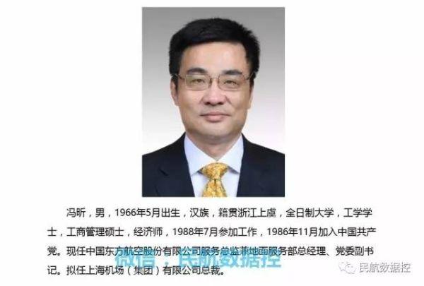 上海机场(集团)有限公司总裁公示