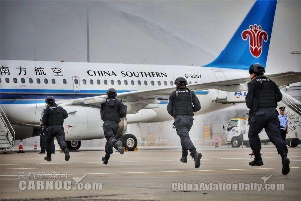 """直击长春机场""""砺剑-6号""""反劫机应急综合演练"""