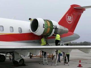 万丰航空顺利完成CL-605机型400飞行小时定检