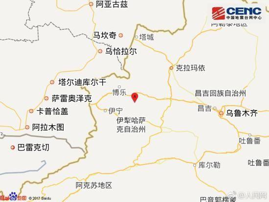 新疆精河发生6.6级地震 附近机场暂未受影响