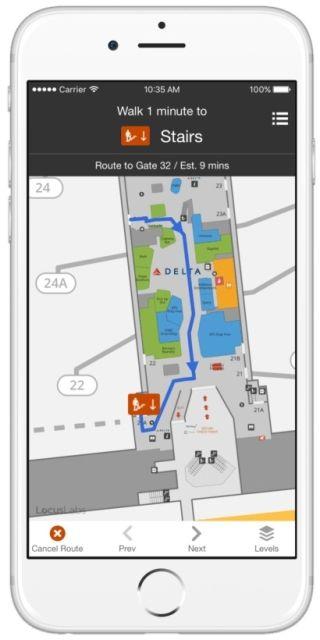 机场地图导航功能:在美国机场不再迷路