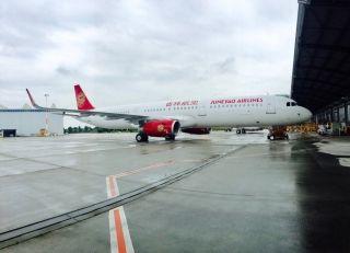 8月12日吉祥航空接收了其第64架飞机——注册号为B-1001的空客A321飞机  图/吉祥官微
