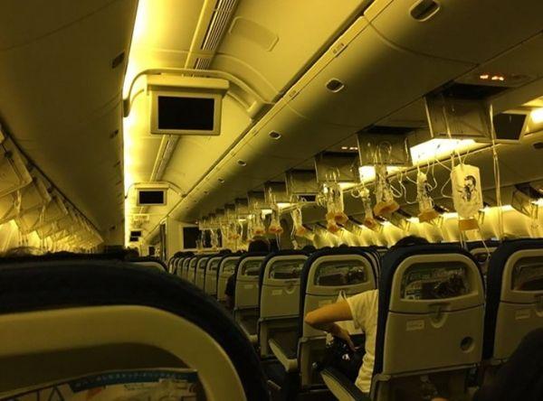 全日空一航班因机舱失压紧急返航