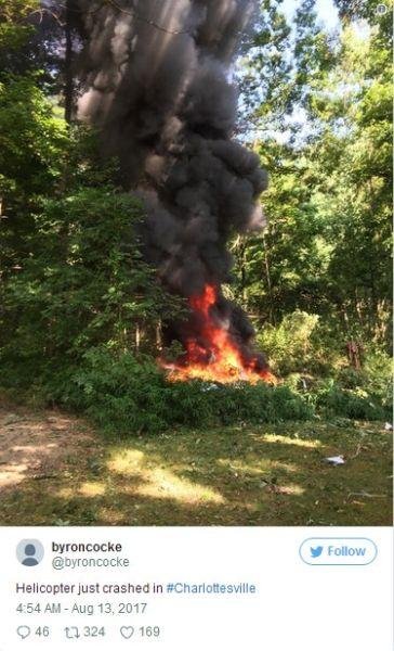 美国1架直升机弗州暴力冲突现场坠毁 2人死亡