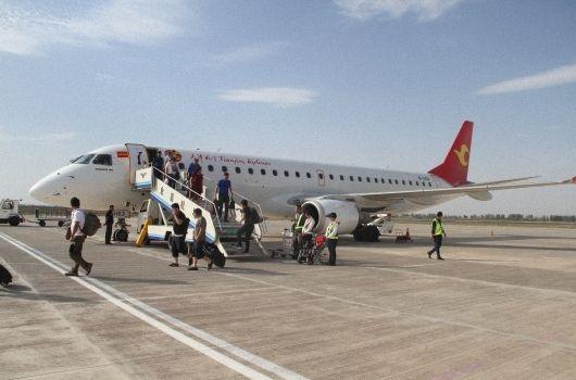 金昌机场旅客吞吐量提前92天突破10万人次
