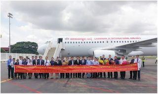 董勒成所属柬埔寨JC国际航空喜迎第四架飞机