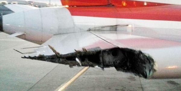 民航早报:达美、美航两飞机机翼与机尾相交