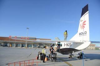 富蕴机场迎来第七家进场作业的通用航空公司
