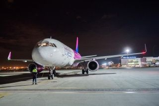 First Wizz Air Flight at Pulkovo St Petersburg Airport
