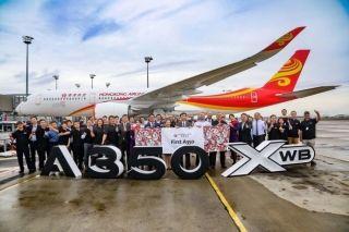 香港航空首架A350成功交付