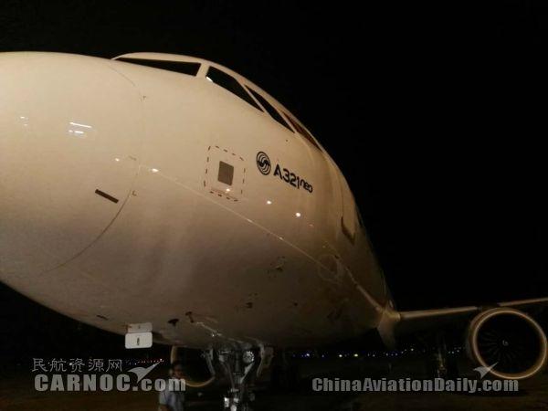 白云机场地勤公司首次为全新A320Neo飞机放行