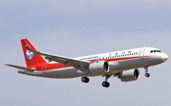 川航首架空客A320neo飞机已交付