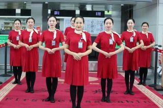 鄂尔多斯机场地服喜换新装迎联合国公约大会
