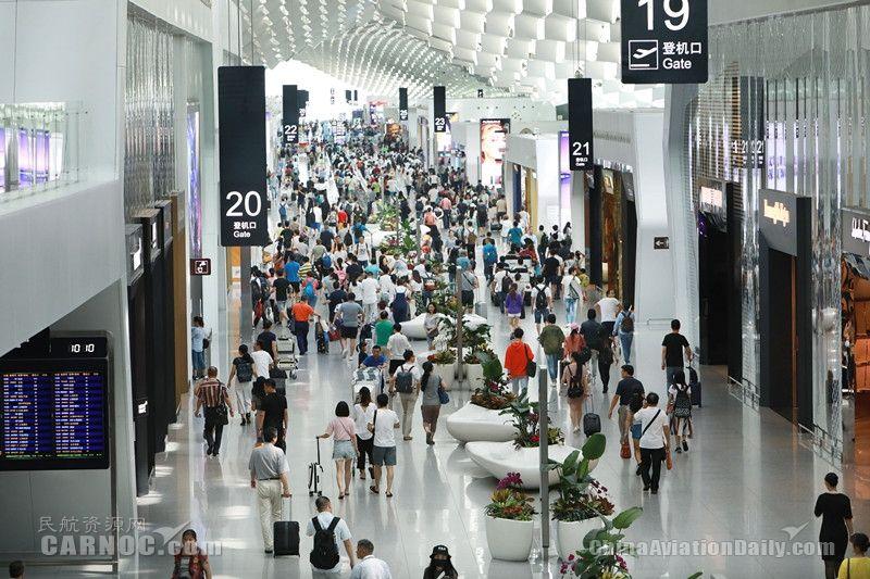 深圳机场暑运旅客780余万 国际客流增长近三成