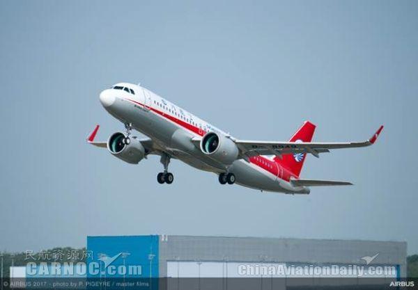 四川航空接收其首架空客A320neo飞机
