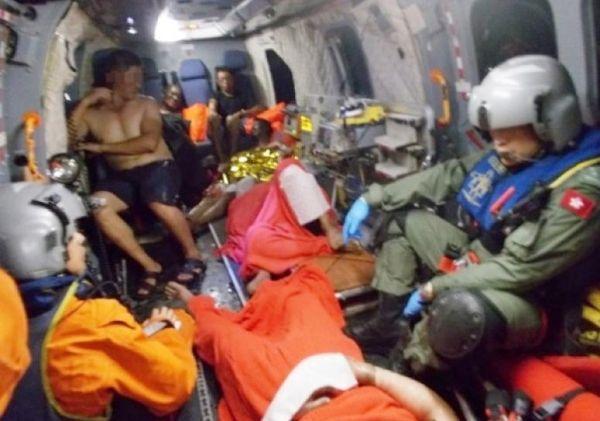 """渔船爆炸 香港派出""""美洲豹""""、挑战者605救援"""