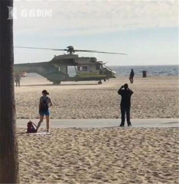 洛杉矶码头收到炸弹恐吓电话 直升机突降沙滩