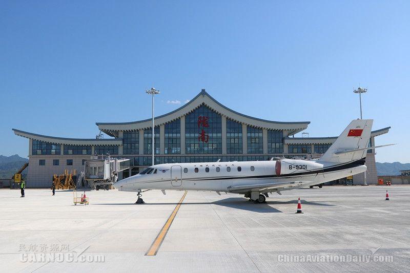 陇南机场圆满完成飞行校验工作